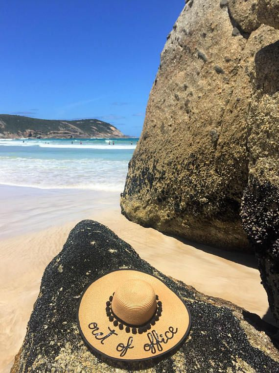 Out Of Office Hat Gift For Colleague Vacation Travel Gifts Her Wide Brim Sequin Sun Natural Straw Hats Outofoffice