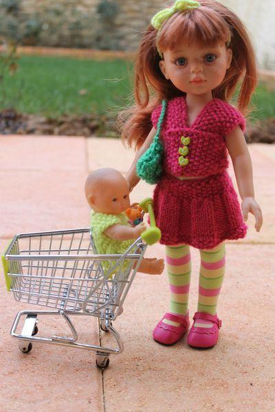 Tuto jupe et haut en tricot pour Paola Reina-Les Chéries-H4H