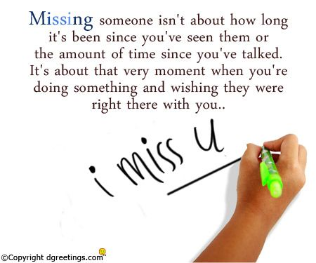 You truly miss someone when you don't get to share an experience with them.