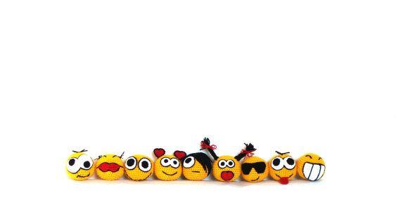 Crochet amigurumi smiley faces crochet toy by zolayka on Etsy, $70.00