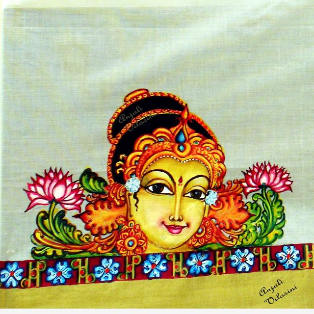 Anjali Vilasini: Mohini - Fabric Painting