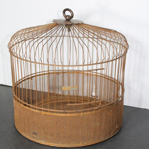 Vintage Bird Cage by OL & Co New York by SugarLMtnAntqs on Etsy