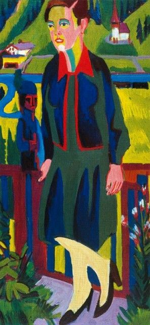Ernst Ludwig Kirchner - La signora Müller davanti alla Bergtal