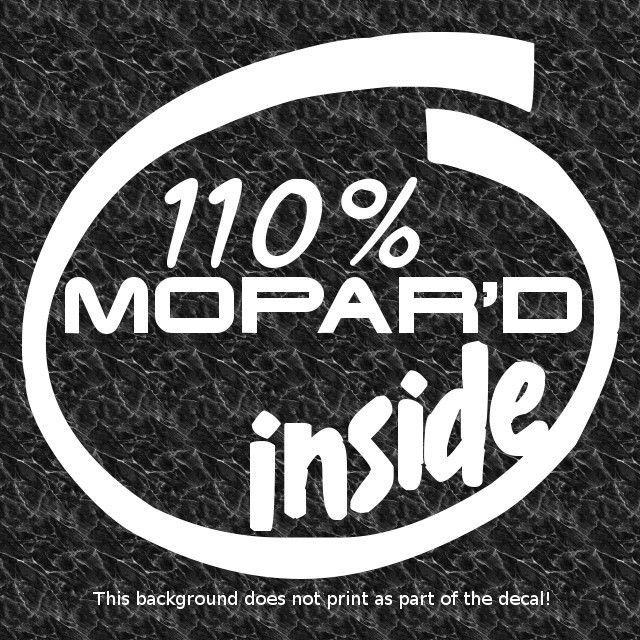 110 Mopar D Inside Decal Sticker V8 Performance American