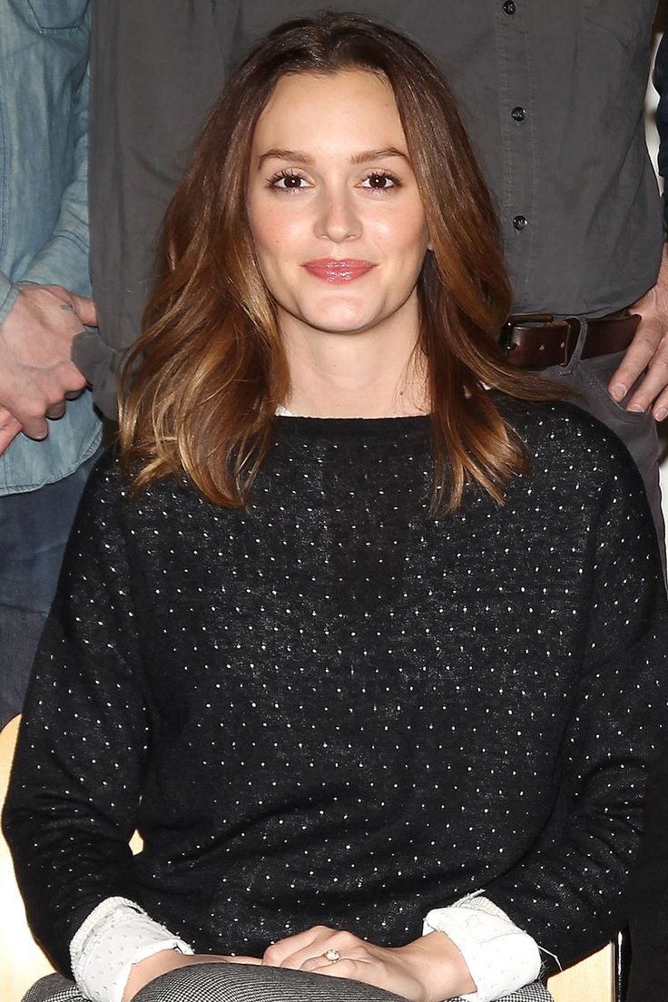 Leighton Meester brown sombre hair = what I want my hair to look like.....fingers crossed!