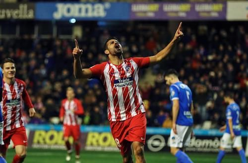 99 days after leaving Chelsea, Diego Costa scores within 5 minutes of his re-debut with #Atletico, only to be injured 5 minutes later, in the #CopadelRey clash v Lleida. Atletico won 0-4. 04.01.18