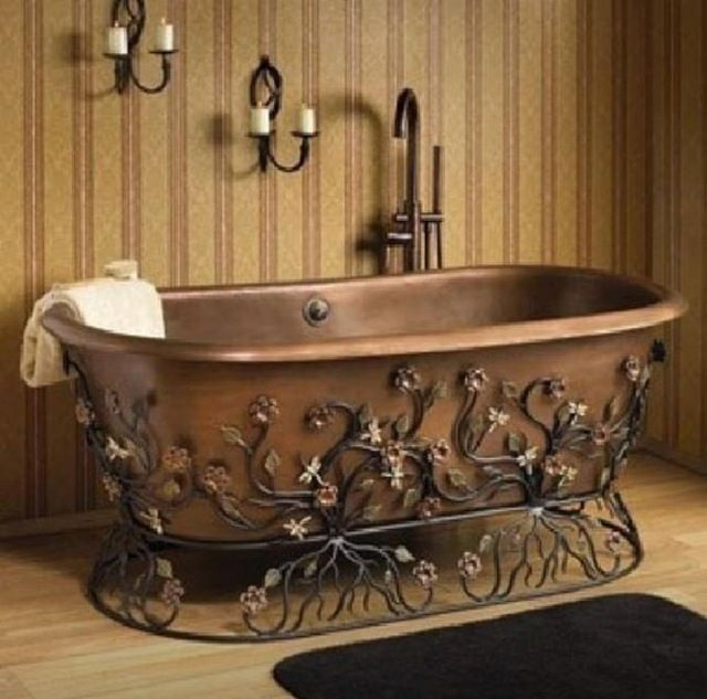 Copper OldFashioned Bathtub Future house and housing items