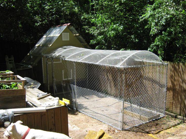 Chain Link Dog Kennel For Chicken Run Enclosure