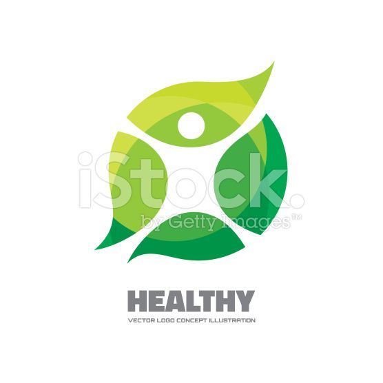 Healthy - vector logo sign concept illustration. royalty-free 스톡 벡터 아트