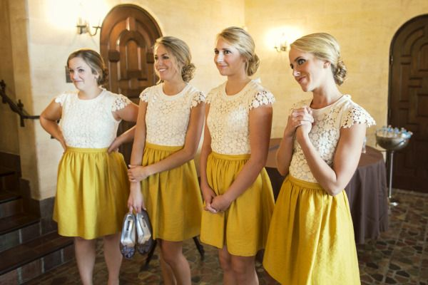 Mustard + white. BHLDN. Photography by pezzphoto.com  Read more - http://www.stylemepretty.com/2011/09/14/mansion-at-judges-hill-wedding-by-studio-563/
