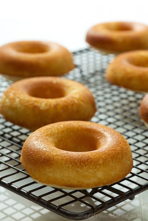Baked Buttermilk Donuts with Fresh Strawberry Glaze. Crazy good and super simple.