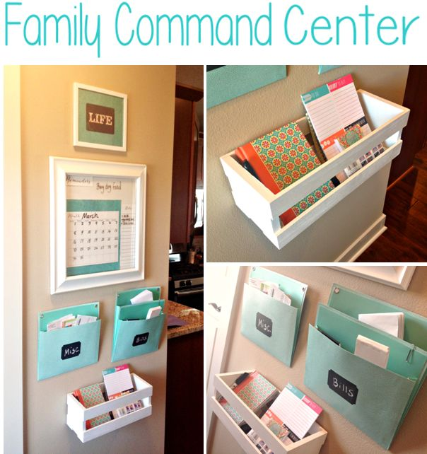 DIY Family Command Center, Family Organization, an easy way to keep your family organized #organization  http://www.edconfetti.blogspot.com/2014/03/diy-family-command-center.html#.UykCdq1dVqs