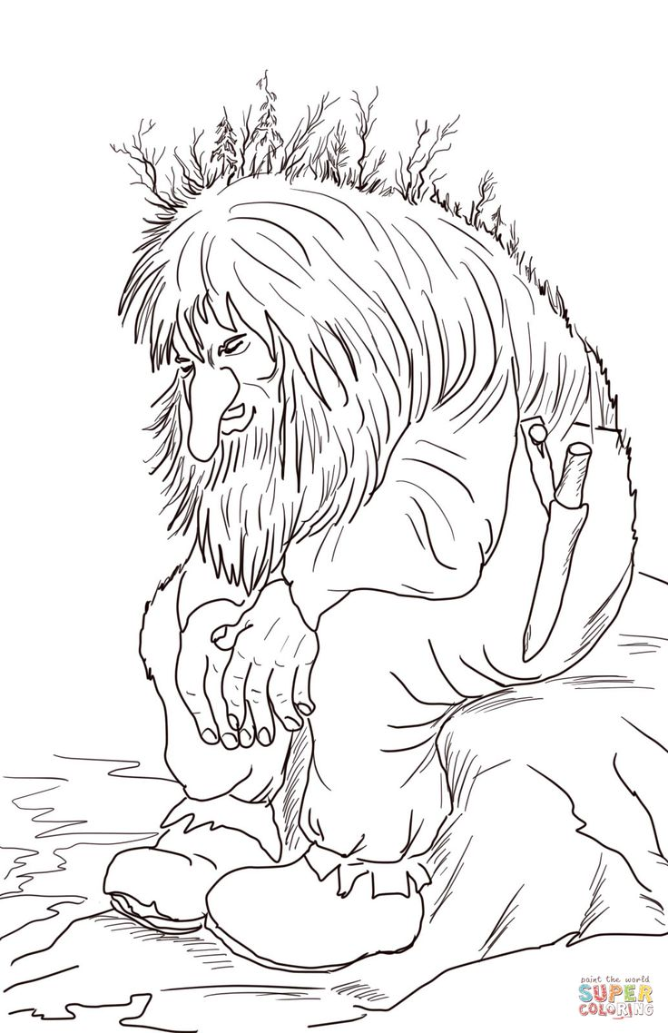 Norwegian Troll coloring page | SuperColoring.com