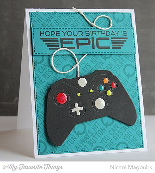 Level Up, Game Controller Die-namics, Horizontal Stitched Strips Die-namics - Nichol Magouirk #mftstamps