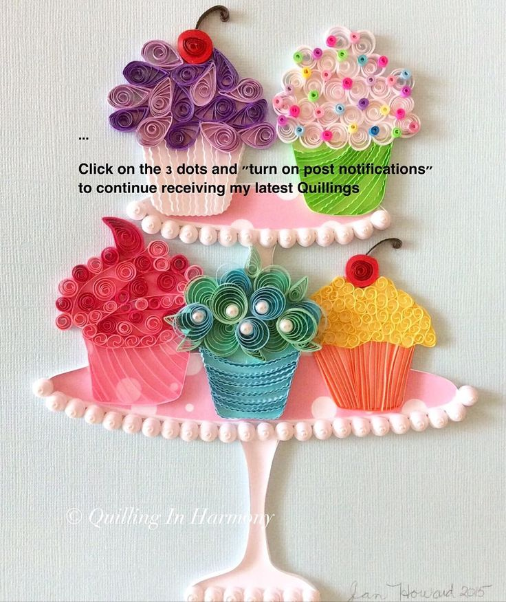 """Don't forget to click on the 3 dots and """"turn on post notifications"""" to continue receiving my latest Quillings  Thanks quilling_in_harmony"""