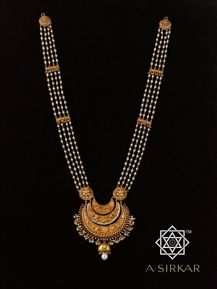 Jyotsna Sumona Sita-Har: Every ornament speaks your story. And those which you cherish most should, even more. This, made specially for Mrs.Sumona Sarkar, and named after her, easily reveals her regal but reserved tastes. Caringly hand wrought, with a light copper polish, in pure 22K gold.