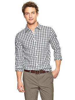 Non-Iron checkered shirt | Gap