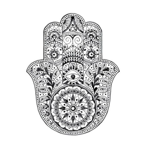 Always wanted a hamsa tattoo. Not necessarily this one, I designed one on my own, but I do like this one!