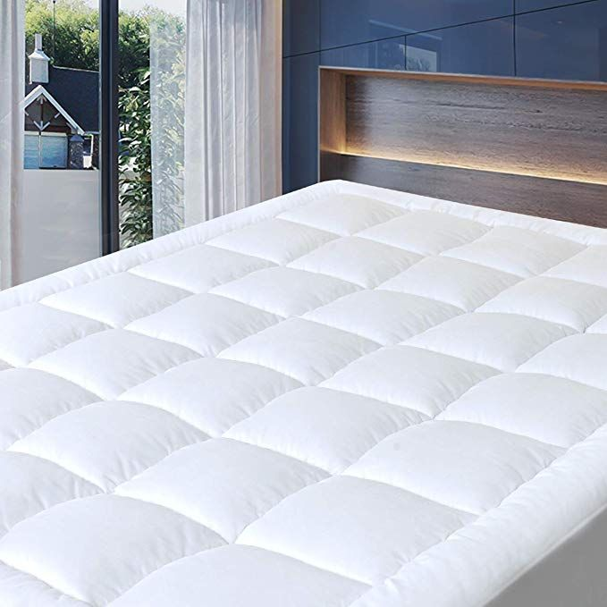 Cosylifee Queen Mattress Pad Cover Thick Quilted Mattress Topper