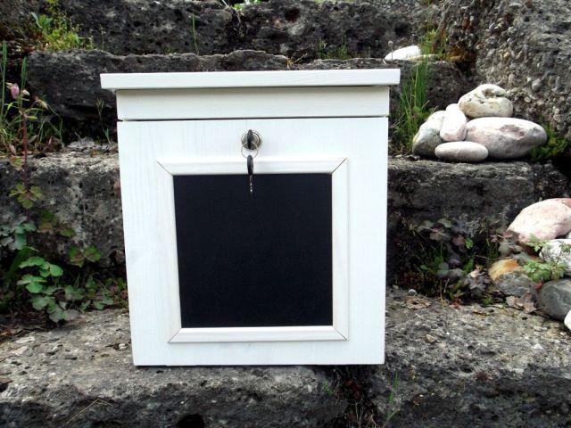 """Briefkästen - Holzbriefkasten, Holz-Postkasten """"Memo"""" - ein Designerstück von Briefkastenwerkstatt bei DaWanda"""