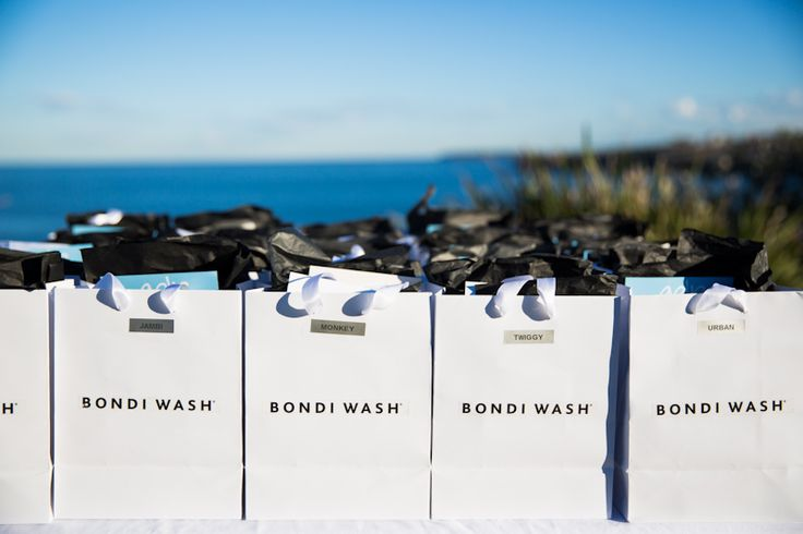 Bondi Wash Dog Range Launch at Mark's Park, featuring treats from Golp: Goodie bags all ready for the guests. Image Credit: Lauren Middleton.