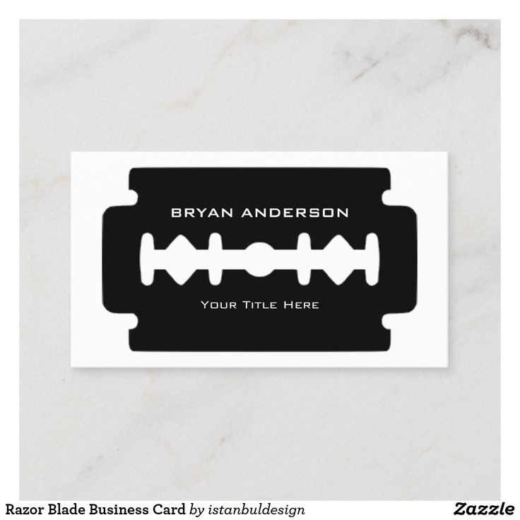 Razor Blade Business Card Zazzle Com