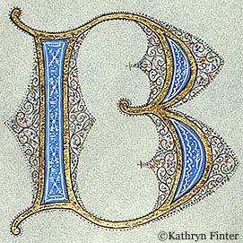 Letter B, Kathryn Finter Contemporary Manuscript Illumination