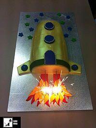 Cake Ninja, Cake Decorating Brisbane | CELEBRATION CAKES www.cakeninja.com.au rocket cake blast off epic sparkler placement