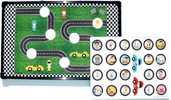 race car chore chart