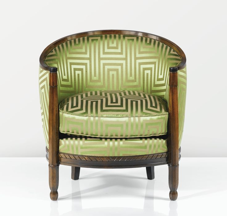 Louis Süe 1875 - 1968 André Mare 1885 - 1932 FAUTEUIL, 1927-1928 A CARVED MAHOGANY ARMCHAIR BY LOUIS SÜE AND ANDRÉ MARE, CIRCA 1927-1928