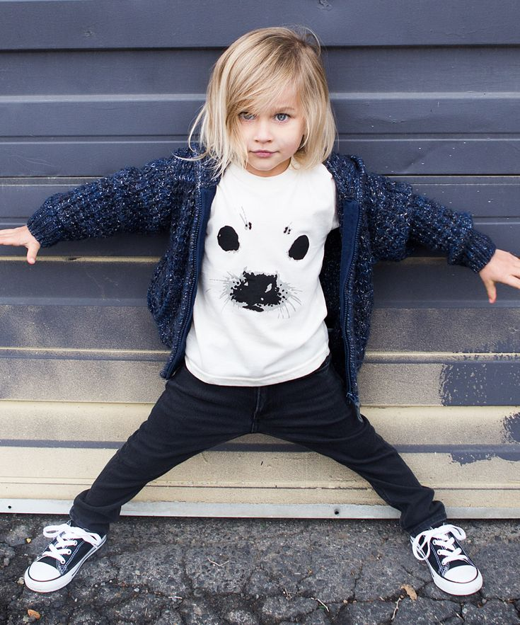 Kid + Kind Natural Sea Pup Organic Tee//