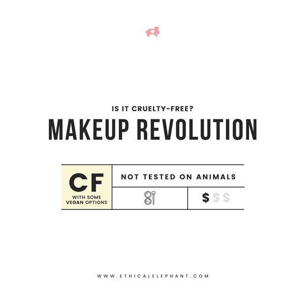 Is UK-based drugstore makeup brand, Makeup Revolution cruelty-free and vegan? or Does Makeup Revolution test on animals? Find the answer here!