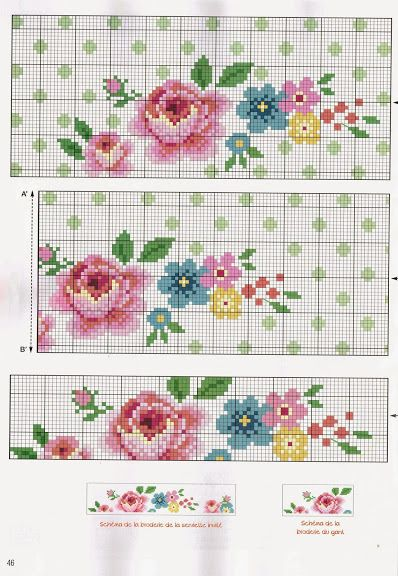 Like it vintage rose cross stitch