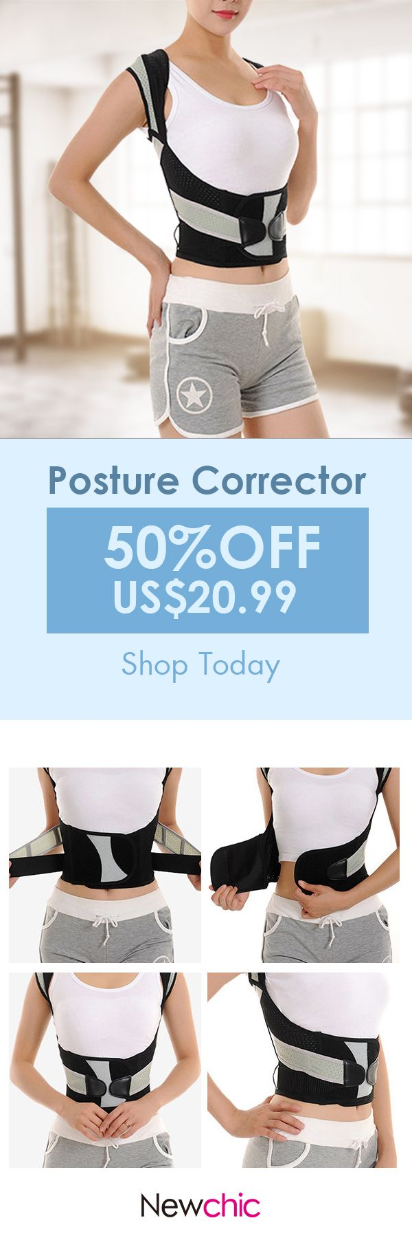 [Newchic Online Shopping] 50%OFF Posture Corrector