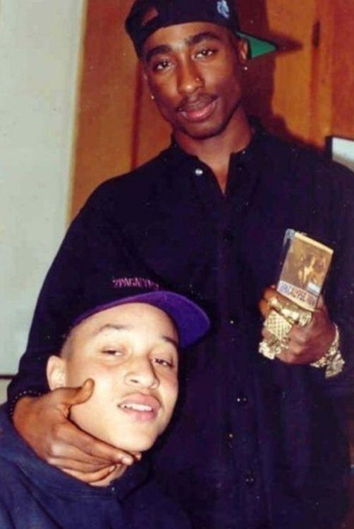 Tupac Shakur and Yafeu Fula (Yaki Kadafi)