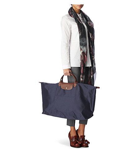 LONGCHAMP Le Pliage large travel bag in navy (Navy | Longchamp Le Pliage Outfits |