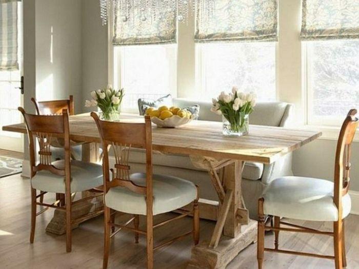 Rustikal Wohnzimmer Tisch Mit St U00fchlen Fenster Esstisch