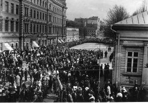 turun kunnallislakko alkoi 28.5.1917. Työväen Arkisto.