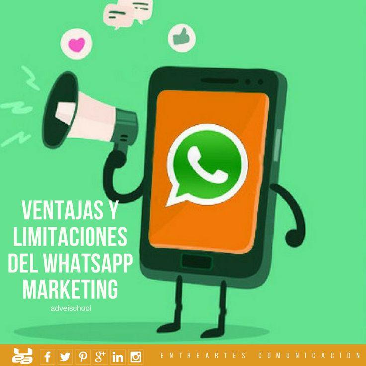 Ventajas y Limitaciones del Whatsapp Marketing 📌Whatsapp es la estrella, con más de 700 millones de usuarios activos al mes según cifras de la propia compañía * EntreArtes Comunicación: Comunicación · Social Media · Personal Branding · Marketing · Turismo Cultural · Eventos · LifeStyle España