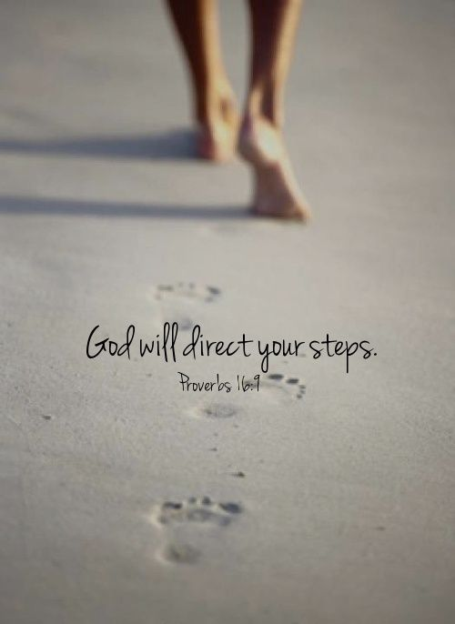 God Will Direct Your Steps Quotes Beach God Life Feet