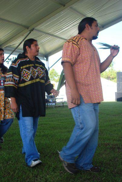 Traditional Arts Coordinator Pedro Zepeda and Outreach Specialist Everett Osceola