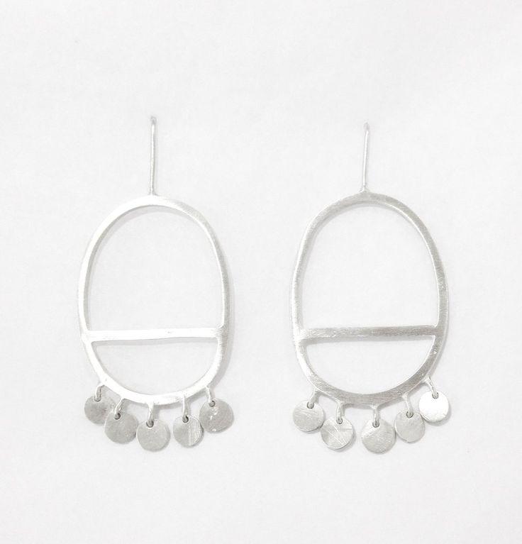 Oval Geometric Earrings - Shabana Jacobson – Studio Melt
