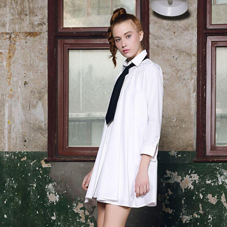 2015 primăvara și vara noi femeile europene și americane de moda vrac mari fete tricou de culoare solidă cu mâneci lungi secțiunea tricou rochie