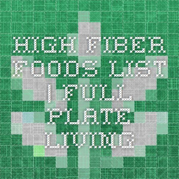 High Fiber Foods List | Full Plate Living