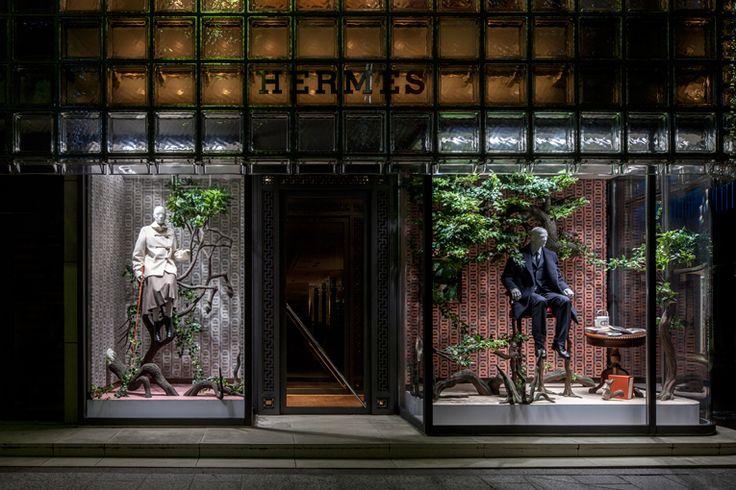 Incursion windows at Ginza Maison Hermès, Tokyo - Japan