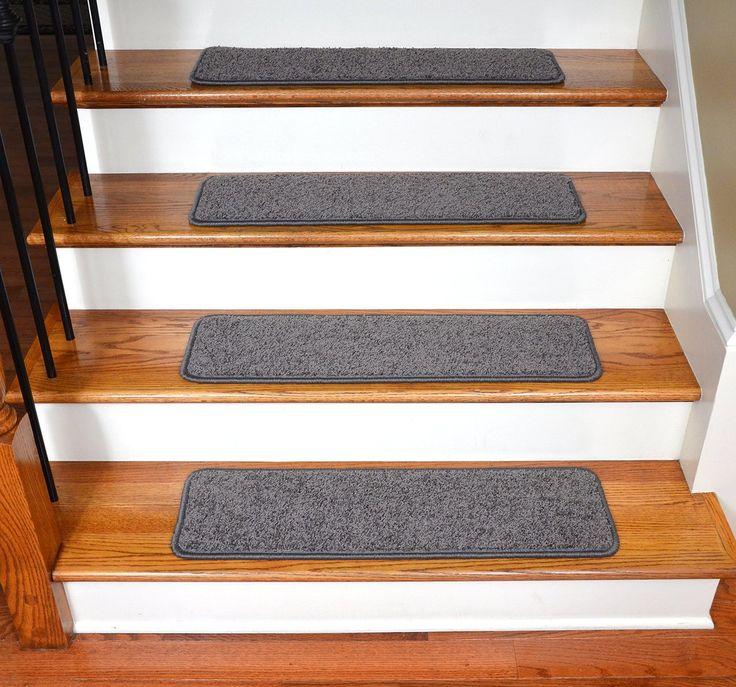 """Dean Premium Stair Gripper Tape Free Non-Slip Pet Friendly DIY Carpet Stair Treads 30""""x9"""" (15) - Dynasty Gray - Dean Stair Treads"""
