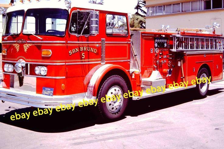 Fire Apparatus Slide San Bruno CA Fire Dept Engine 5 1973 Van Pelt CA7