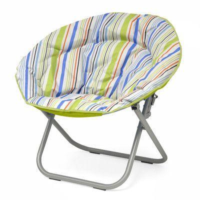 Idea Nuova Urban Shop Surfer Stripe Saucer Papasan Chair Color: