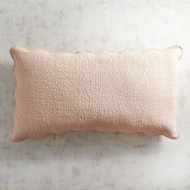 Clare Scallop Cameo Rose King Pillow Sham Pink