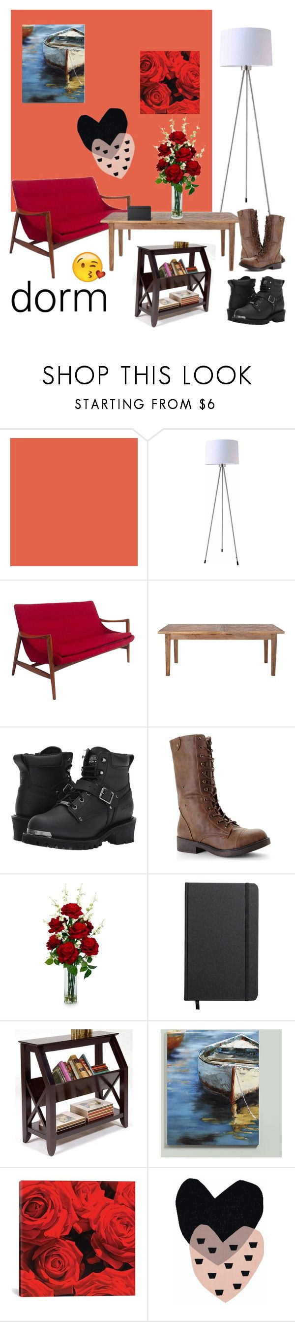 """""""Dorm"""" by pesmica ❤ liked on Polyvore featuring interior, interiors, interior design, home, home decor, interior decorating, ORE, Home Decorators Collection, Carolina and Madden Girl"""